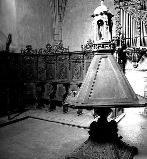 La sillería del coro de la Iglesia parroquial de San Andrés Apóstol de Lagunilla